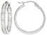 White Cubic Zirconia Sterling Silver inside/Out Hoop Earrings 2.20ctw