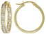 White Cubic Zirconia 18k Yellow Gold Over Sterling Silver Hoop Earrings 2.20ctw