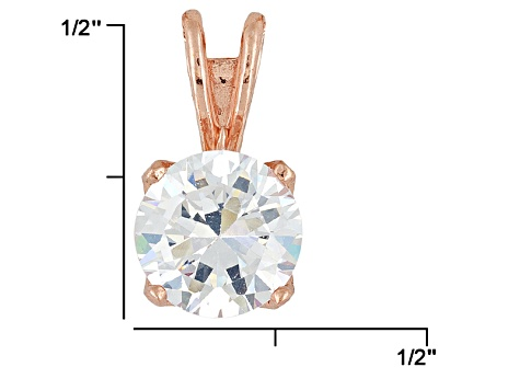 Bella Luce® 3.60ct 18k Rose Gold Over Sterling Silver Pendant With Chain
