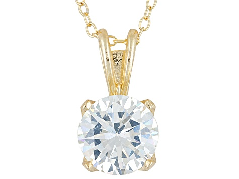 Bella Luce® 3.60ct 18k Yellow Gold Over Sterling Silver Pendant With Chain