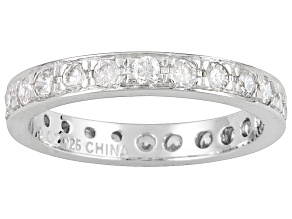 Womens Eternity Band Ring Bella Luce Cubic Zirconia 1.45ctw Silver