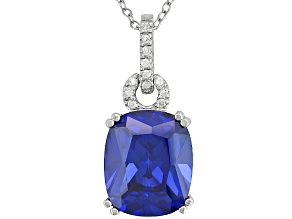 Bella Luce 9ctw Tanzanite Color White Cubic Zirconia Sterling Silver Necklace