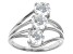 White Cubic Zirconia Rhodium Over Sterling Silver Ring 4.08ctw