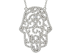 White Cubic Zirconia Rhodium Over Sterling Silver Necklace 2.19ctw