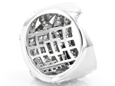 White Cubic Zirconia Rhodium Over Sterling Silver Ring 4.05ctw