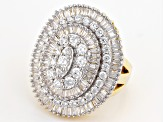 White Cubic Zirconia 18k Yellow Gold Over Silver Ring 7.33ctw