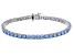 Blue Zirconia From Swarovski ® Rhodium Over Sterling Silver Bracelet 19.25ctw