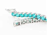 Mint Green Zirconia From Swarovski ® Rhodium Over Silver Bracelet 19.80ctw