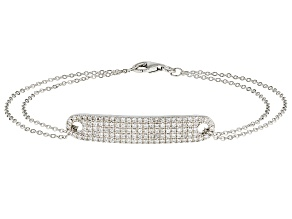 White Cubic Zirconia Rhodium Over Sterling Silver Bracelet 2.74ctw