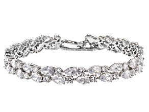 White Cubic Zirconia Rhodium Over Sterling Silver Bracelet 27.49ctw