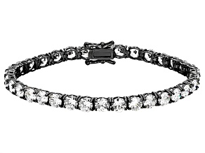 White Cubic Zirconia Black Rhodium Over Sterling Silver Bracelet 28.44ctw