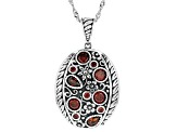 Red Cubic Zirconia Rhodium Over Sterling Silver Pendant With Chain 2.73ctw