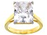 White Cubic Zirconia 18K Yellow Gold Over Silver Ring 10.70ctw