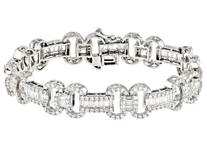 White Cubic Zirconia Rhodium Over Sterling Silver Bracelet 17.66ctw