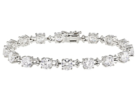 White Cubic Zirconia Rhodium Over Sterling Silver Bracelet 24.31ctw.