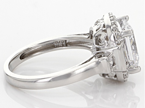 White Cubic Zirconia Rhodium Over Sterling Silver Ring 5.84ctw