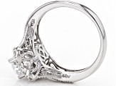 White Cubic Zirconia Rhodium Over Sterling Silver Ring 2.46ctw