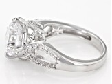 White Cubic Zirconia Rhodium Over Sterling Silver Ring 6.99ctw