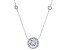 White Cubic Zirconia Rhodium Over Sterling Silver Necklace 5.19ctw