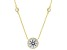 White Cubic Zirconia 18k Yg Over Sterling Silver Necklace 5.19ctw