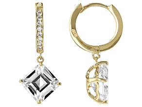 White Cubic Zirconia 18k Yg Over Sterling Silver Earrings 10.47ctw