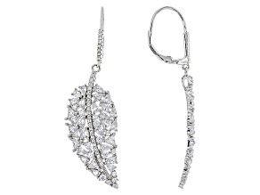 White Cubic Zirconia Rhodium Over Sterling Silver Earrings 14.01ctw