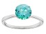 Green Zirconia From Swarovski ® Rhodium Over Sterling Silver Ring 3.33ctw