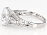 White Cubic Zirconia Rhodium Over Sterling Silver Ring 7.52ctw