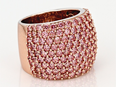 a5e8b16e09 Pink Zirconia From Swarovski ® 18k Rose Gold Over Sterling Silver Ring  7.52ctw
