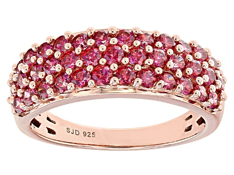 4e4fb3183a Red Zirconia From Swarovski ® 18k Rose Gold Over Sterling Silver Ring  2.22ctw