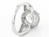 White Cubic Zirconia Rhodium Over Sterling Silver Ring 5.65ctw
