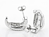 White Cubic Zirconia Rhodium Over Sterling Silver Earrings 3.10ctw