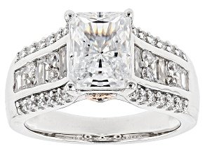 White Cubic Zirconia Rhodium Over Sterling Silver Ring 5.82ctw