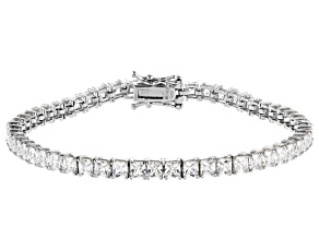 White Cubic Zirconia Rhodium Over Sterling Silver Bracelet 13.21ctw