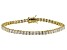 White Cubic Zirconia 18k Yellow Gold Over Sterling Silver Bracelet 13.21ctw