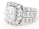White Cubic Zirconia Rhodium Over Sterling Silver Ring 8.35ctw