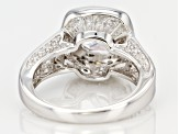 White Cubic Zirconia Rhodium Over Sterling Silver Ring 6.48ctw
