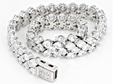 White Cubic Zirconia Rhodium Over Sterling Silver Bracelet 25.32ctw