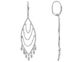 White Cubic Zirconia Rhodium Over Sterling Silver Earrings 1.91ctw