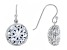 White Cubic Zirconia Rhodium Over Sterling Silver Earrings 19.00ctw