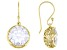 White Cubic Zirconia 18K Yellow Gold Over Sterling Silver Earrings 19.00ctw