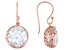 White Cubic Zirconia 18K Rose Gold Over Sterling Silver Earrings 19.00ctw
