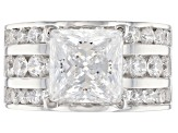 White Cubic Zirconia Rhodium Over Sterling Silver Ring 10.38ctw