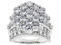 White Cubic Zirconia Rhodium Over Sterling Silver Ring 10.03ctw
