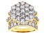 White Cubic Zirconia 18K Yellow Gold Over Sterling Silver Ring 10.03ctw