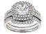 White Cubic Zirconia Rhodium Over Sterling Silver Ring With Bands 3.04ctw