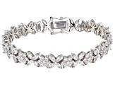 White Cubic Zirconia Rhodium Over Sterling Silver Bracelet 23.97ctw