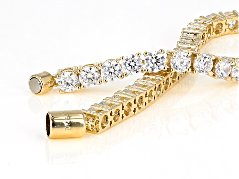 White Cubic Zirconia 18K Yellow Gold Over Sterling Silver Bracelet 17.47ctw