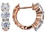 White Cubic Zirconia 18K Rose Gold Over Sterling Silver Earrings 3.15CTW