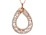 White Cubic Zirconia 18K Rose Gold Over Sterling Silver Pendant With Chain 2.99ctw